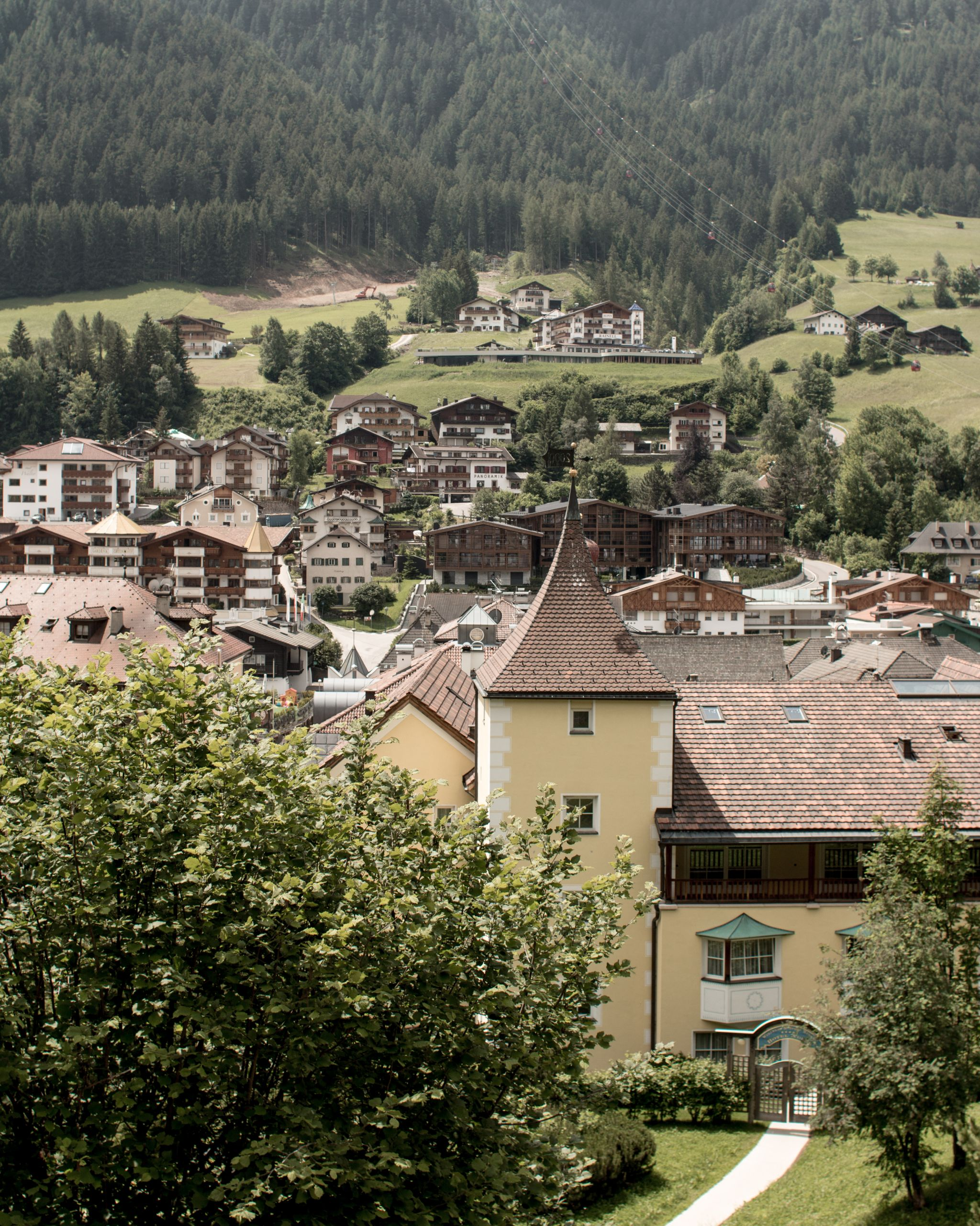 Adler Dolomites Hotel Ortisei Italy Hotel Hospitality Brand Photography Valley View