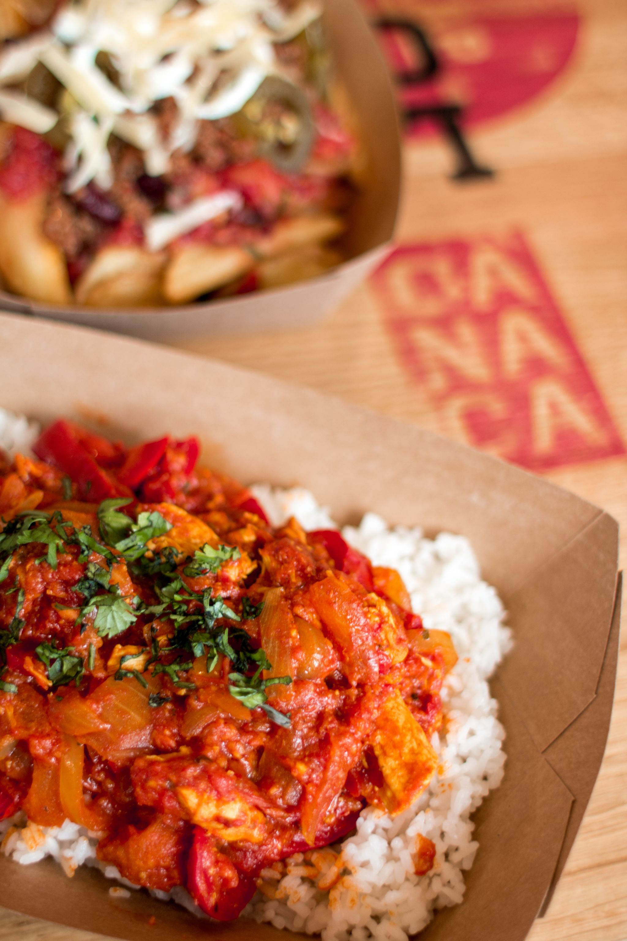 Canaca Street Food Menu Photography curry and chilli