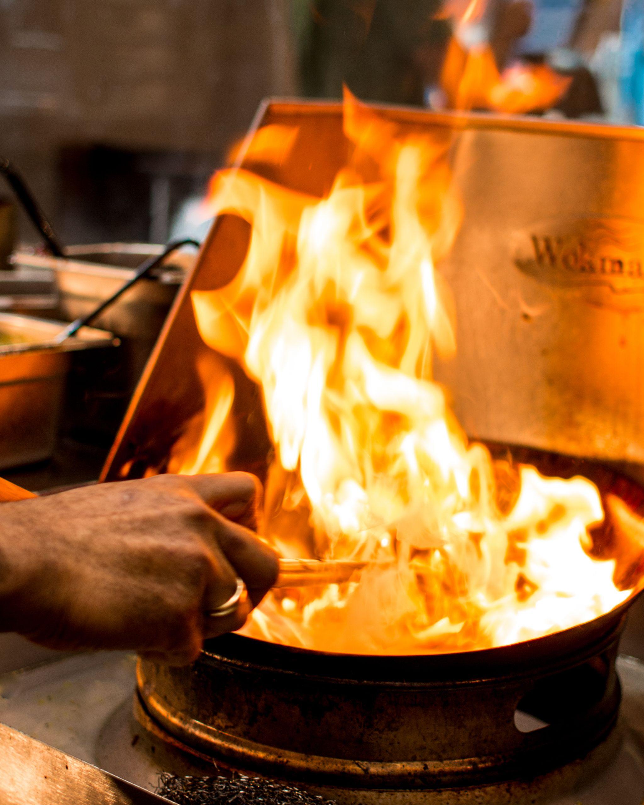 Canaca Street Food Menu Photography wok fire