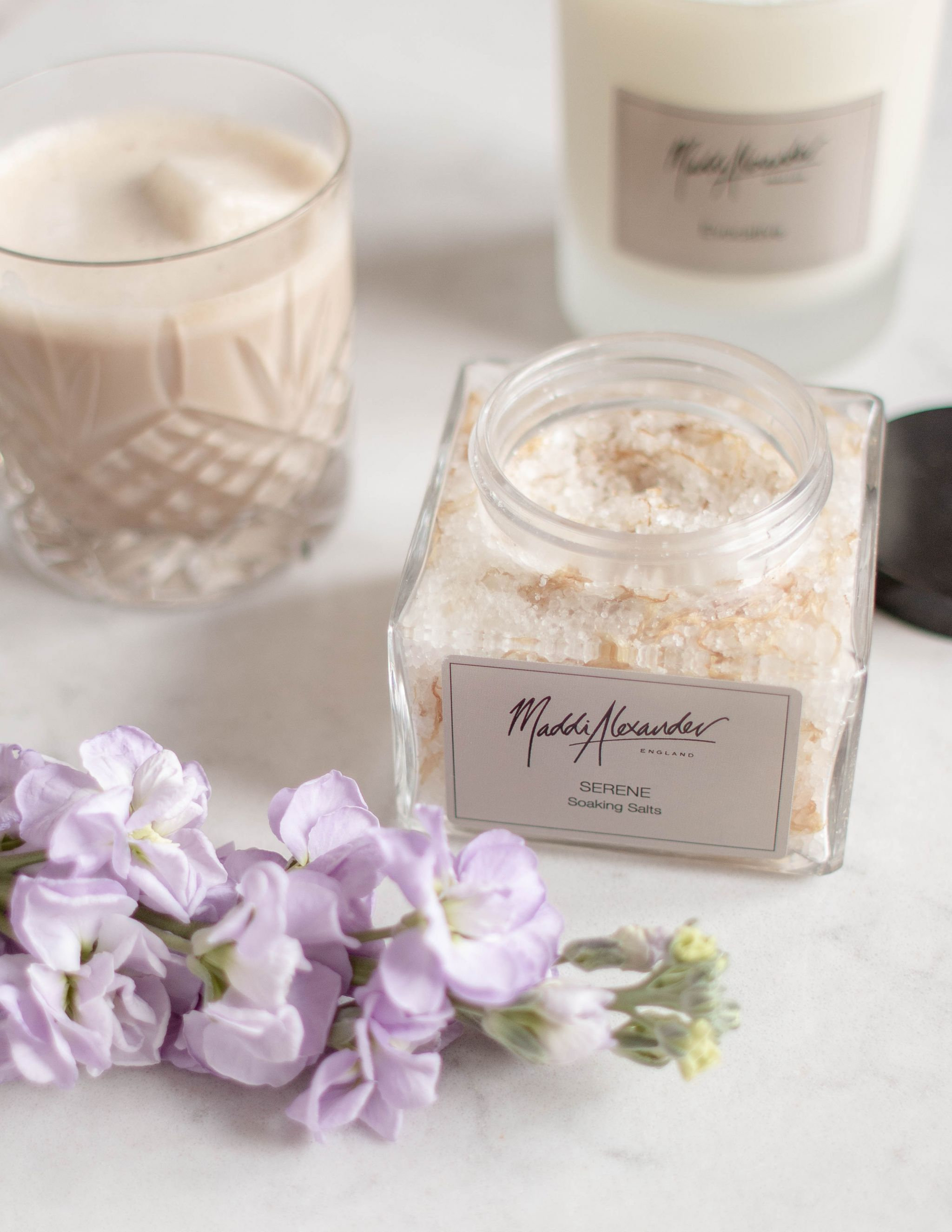 Maddi Alexander Social Media Photography Lifestyle Content Creation bath salts spring flowers