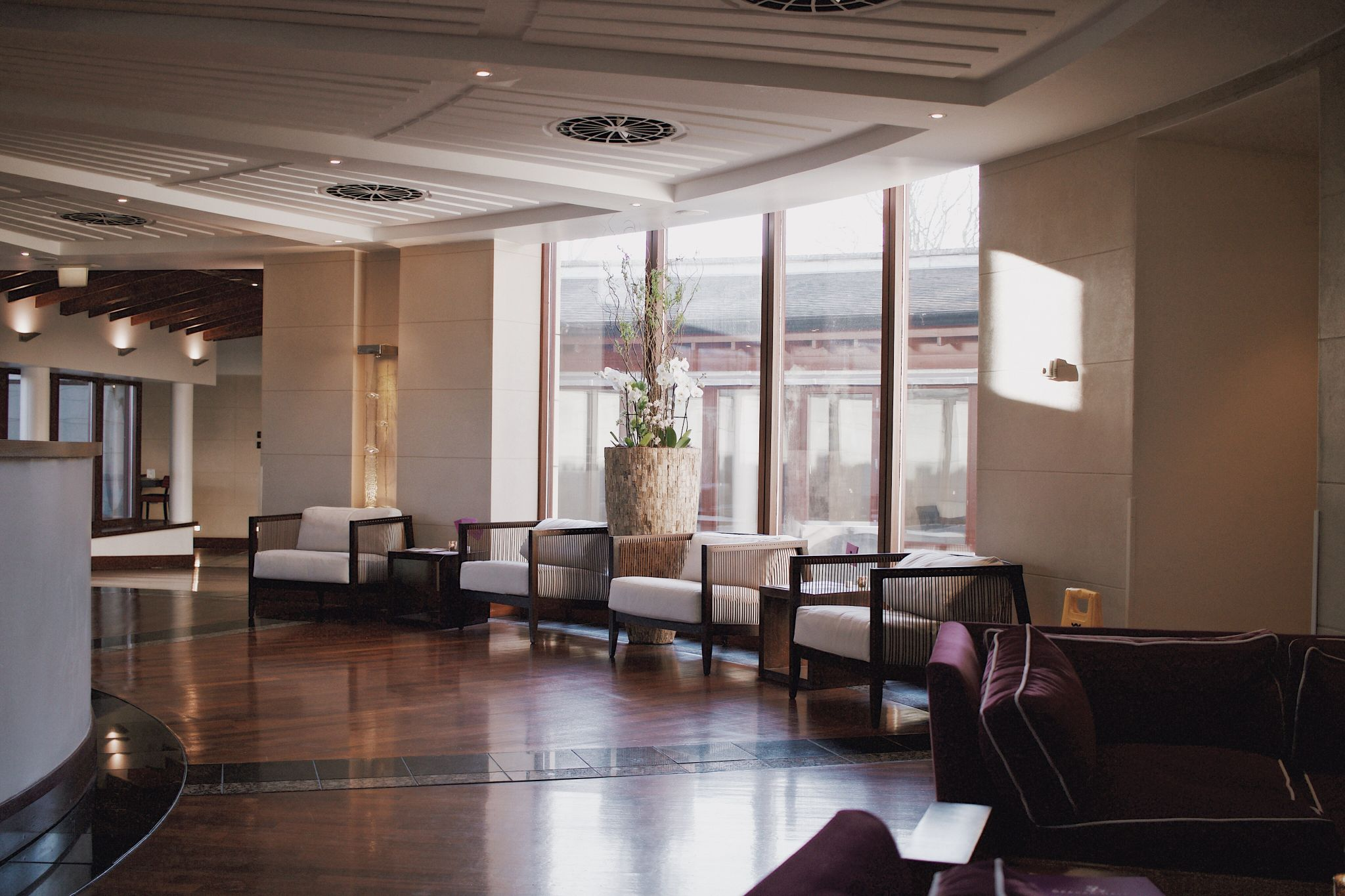 Seaham Hall hotel and spa lobby brand photography hospitality and travel