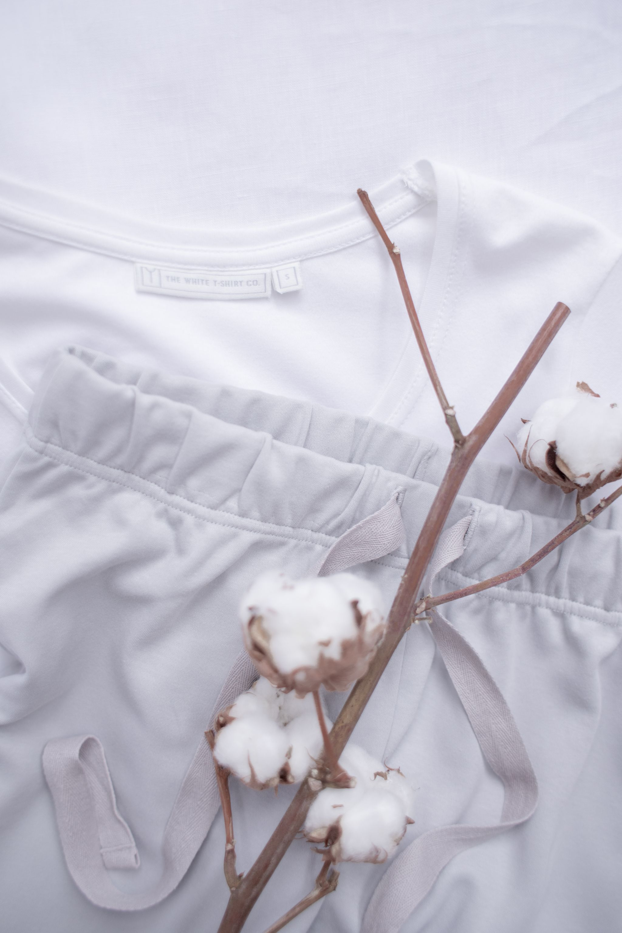 brand photography social media content creation white tshirt co dried cotton lounge nightwear