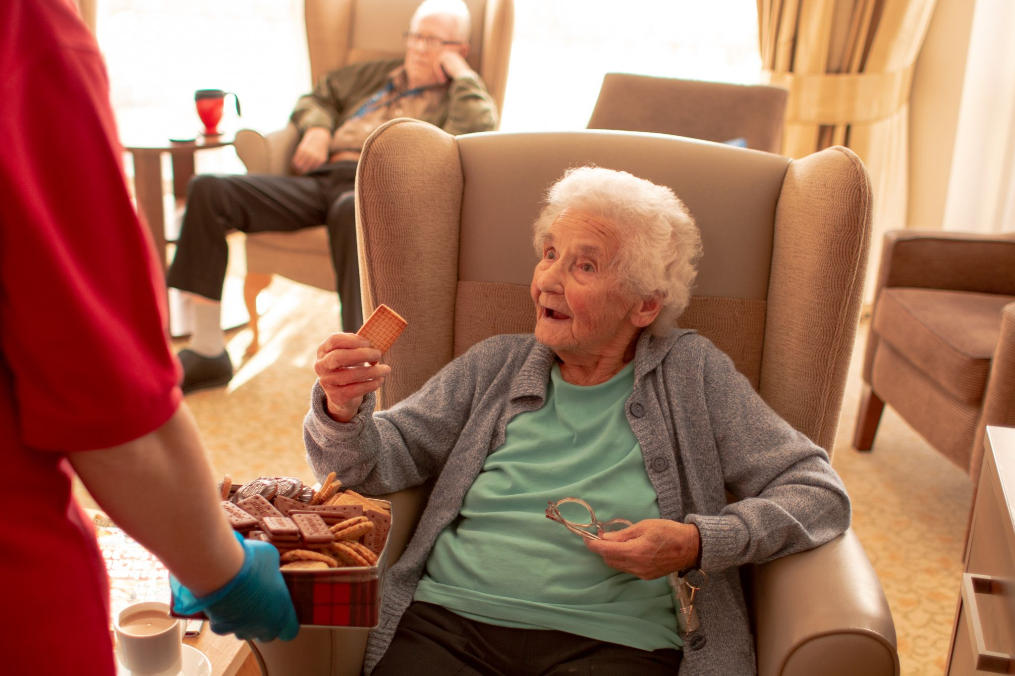 craig healthcare residents lifestyle photography hannah layford biscuits