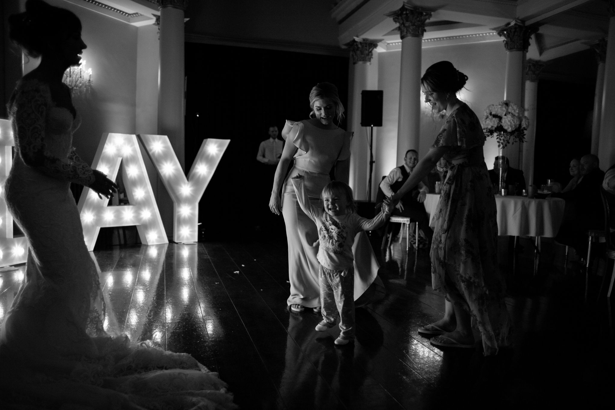 hannah layford wedding photography wedding party evening event claire and glenn child dancing