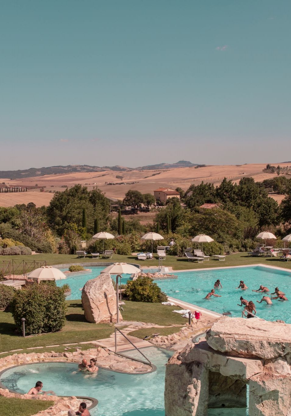 Adler Thermae Hotel Tuscany Hospitality Brand Hotel Travel Photography outdoor pool exercise class