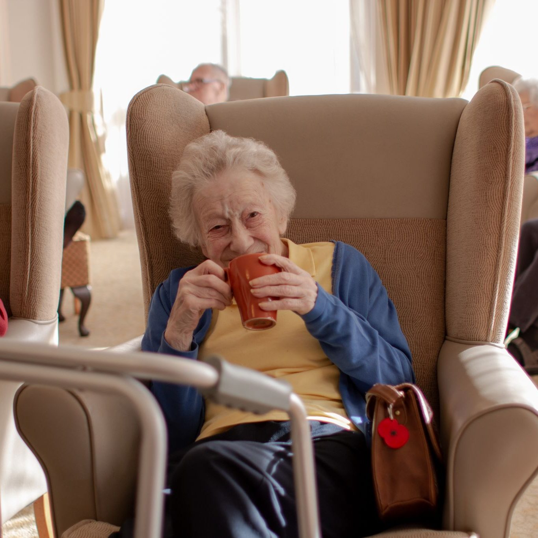 craig healthcare residents lifestyle photography hannah layford drinking tea